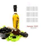 травы бутылки смазывают оливку Стоковые Изображения