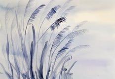 Травы в темноте иллюстрация вектора