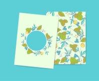 Травы леса Комплект карточки Стоковое фото RF