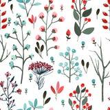 Травы, завтрак-обед, вектор картины цветков Стоковое Изображение