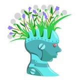 Травяная голова Стоковая Фотография RF
