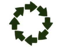 Травянистые стрелки на белой предпосылке Иллюстрация цифров перевод 3d Стоковые Изображения RF