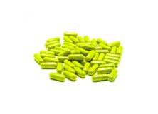 Травяное лекарство. и нетрадиционная медицина в капсуле. Стоковая Фотография RF