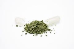 Травяное лекарство показанное разливать вне Стоковое Изображение RF