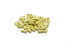 Травяное снадобье и нетрадиционная медицина в капсуле Стоковые Изображения