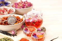 Травяной естественный флористический чай i Стоковые Фото
