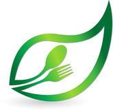 Травяной логос еды Стоковые Изображения RF
