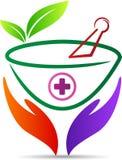 Травяной логотип заботы Стоковое Изображение RF