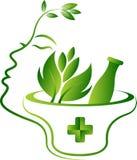 Травяной логотип стороны Стоковые Фотографии RF