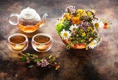 Травяной чай и заживление травы Стоковая Фотография RF