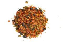 Травяной чай и плодоовощ на белой предпосылке Стоковые Фотографии RF