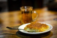 Травяной чай и Knafeh Стоковое Фото
