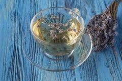 Травяной чай с лавандой Чай лаванды Стоковое Фото