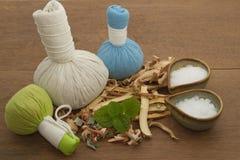 Травяной шарик обжатия для ароматности курорта Стоковые Изображения