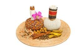 Травяной шарик обжатия для обработки ароматности курорта Стоковое Изображение
