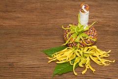 Травяной шарик обжатия для обработки ароматности курорта Стоковое Изображение RF