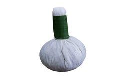Травяной шарик с белой предпосылкой Стоковое фото RF