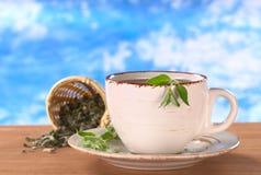 травяной muna чай вне Стоковое фото RF