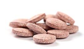 Травяные таблетки изолированные на белизне Стоковые Фотографии RF