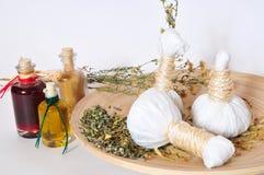 травяные штемпеля массажа Стоковые Фотографии RF