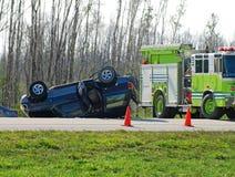 трагичное аварии автоматическое Стоковая Фотография