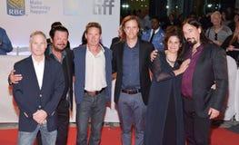 Трагично бедро и производители на премьере ` репортажно-документального долгого времени ` идущего на международном кинофестивале  Стоковое Изображение
