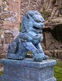 Традиционная азиатская статуя льва Стоковые Фотографии RF