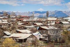 Традиционная армянская деревня среди гор стоковое фото rf