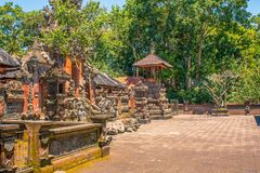 Традиционная балийская архитектура индусского виска стоковые фото