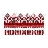 Традиционная вышивка Иллюстрация вектора этнического безшовного ornamental Стоковая Фотография