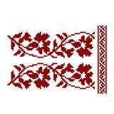 Традиционная вышивка Иллюстрация вектора этнического безшовного ornamental Стоковое Изображение