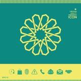 Традиционная геометрическая восточная арабская картина элемент конструкции ваш логос Стоковое Фото