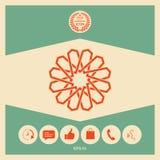 Традиционная геометрическая восточная арабская картина элемент конструкции ваш логос Стоковые Фотографии RF