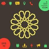 Традиционная геометрическая восточная арабская картина элемент конструкции ваш логос Стоковое Изображение RF