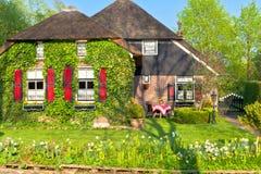 Традиционная голландская дом Стоковая Фотография RF