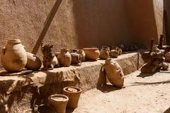 Традиционная гончарня в kasbah Amridil, Марокко Стоковые Изображения RF