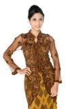 Традиционная женщина Malay Стоковые Фото