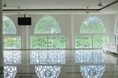 Традиционная исламская геометрическая картина мечети в Bandar Baru Bangi Стоковое Изображение