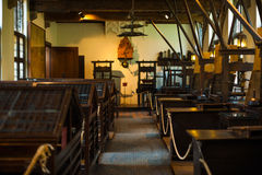 Традиционная комната печатного станка Printshop Стоковое Фото