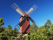 Традиционная красная ветрянка Стоковые Изображения