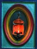 Традиционная масляная лампа глины в южном индийском доме Стоковые Фото