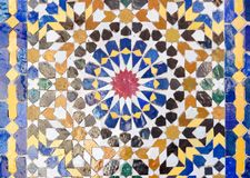Традиционная мозаика в Marrakesh, Марокко Стоковое Изображение