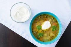 Традиционная русская еда - русский fo rassolnik супа традиционный Стоковое Изображение
