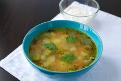 Традиционная русская еда - rassolnik супа Стоковое фото RF