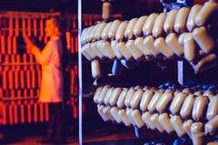 Традиционная смертная казнь через повешение сосиски в складе Стоковое Изображение