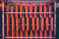 Традиционная смертная казнь через повешение сосиски в складе Стоковые Фото