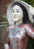 Традиционная статуя женщины Вьетнама деревянная Стоковое Изображение