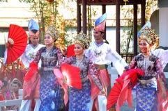 Традиционная танцулька Malay Стоковое Фото