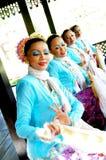 Традиционная танцулька Malay (Joget) Стоковое Изображение