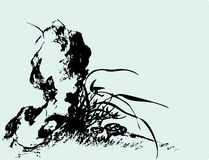 Традиционная художническая картина цветка Стоковые Изображения